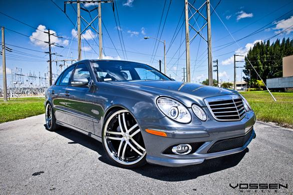 Mercedes benz e550 riding on 20 inch vossen vvs085 wheels for Mercedes benz e550 rims for sale