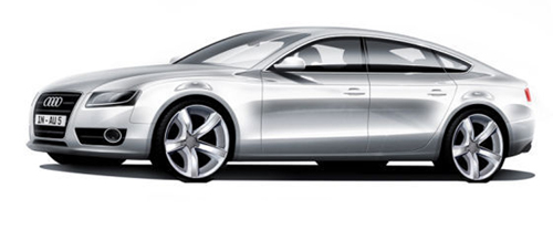 NAIAS 2009 Preview: Audi A7 Concept Sketches