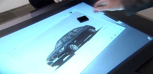 BMW Multi-Touch Display Used for Design/Preview of your New BMW