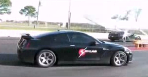 Transmission Goes BOOM: Samurai Speed Nissan GT-R Blows Tranny At Drag Strip
