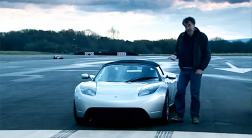 The Stig Gets Electrified: Top Gear Tests The Tesla Roadster