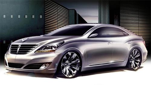 Hyundai's Phatness: Hyundai VI Equus sketches