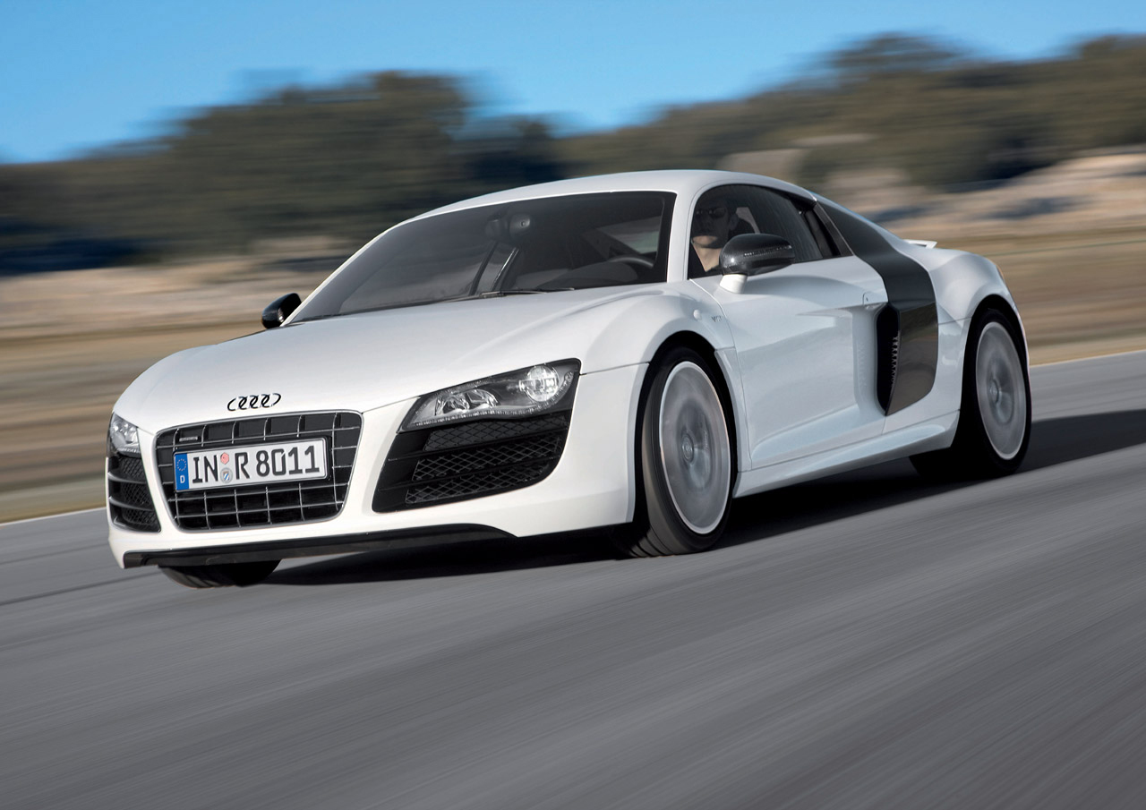 1001 hot cars wallpapers: audi r8 v10