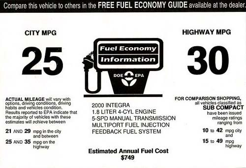 u s fuel economy standard to be raised to 27 3 mpg for 2011 rh automotiveaddicts com 2009 fuel economy guide canada What Makes Fuel Economy