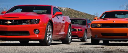 2010 Mustang GT vs 2010 Camaro SS vs 2009 Challenger R/T
