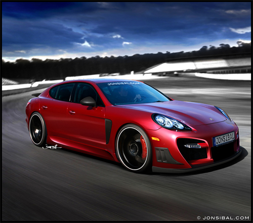 Tuned Porsche Panamera Rendering by Jon Sibal