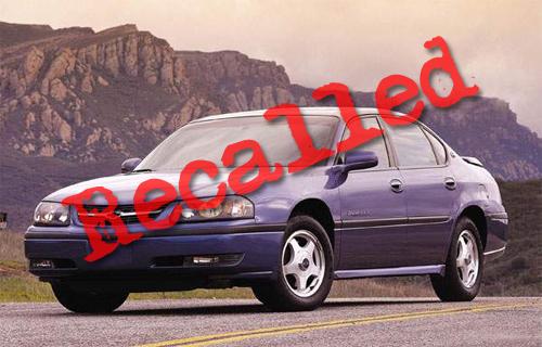 Recalled Chevy Impala