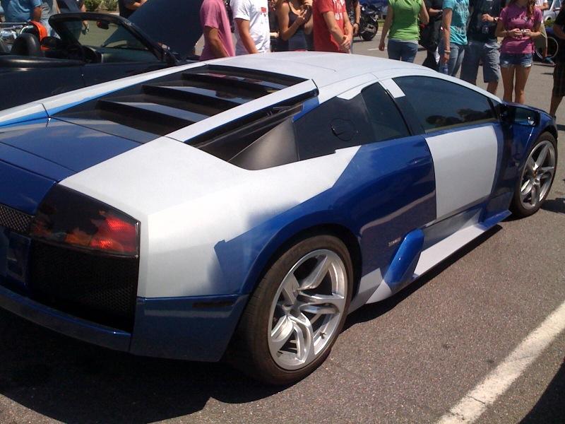 Salvaged Lamborghini Murcielago At A Local Car Show Images