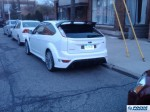 ford focus rs rear white pic