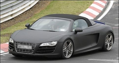 2011 Audi R8 Spyder Spy Shots