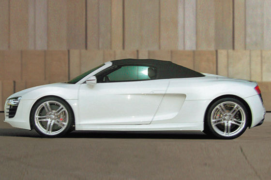Spy Shots Audi R8 V10 Spider Spotted In Filming Of Iron Man 2