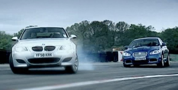 Video: Top Gear puts the Jaguar XFR against BMW M5