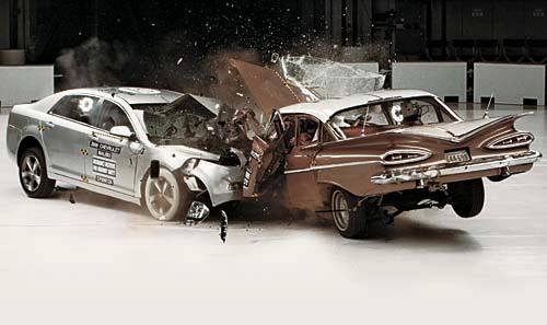 Crash Test Video: 1959 Chevy Bel Air vs. 2009 Chevy Malibu