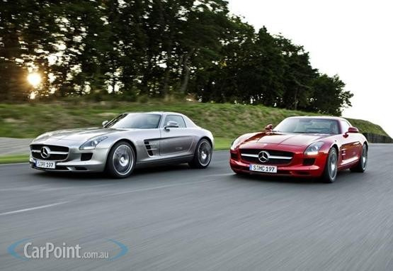 2010 mercedes benz sls amg silver red for Mercedes benz sls amg red