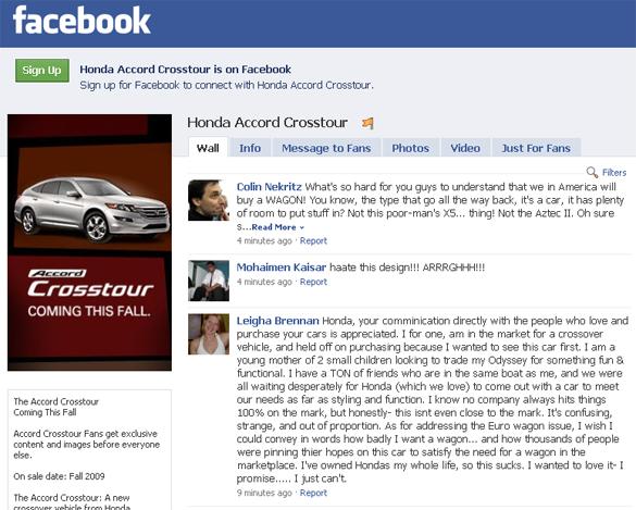 Ugly As Sin Honda Crosstour A Design Fail