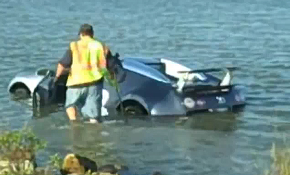 Epic Fail – Bugatti Veyron Crashes Into Lake