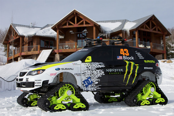 SEMA 2009: Ken Block's 400hp Subaru WRX STI TRAX – World's Fastest Snow Cat