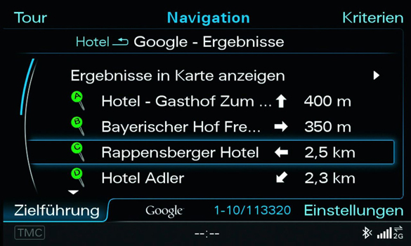 World's First Integration of Google Earth Based Navigation System Announced for Audi A8