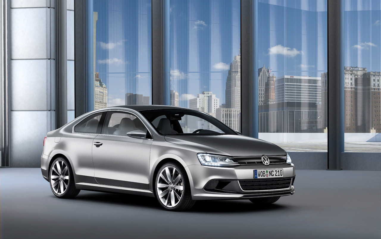 2010 detroit auto show volkswagen new compact coupe 2011 vw jetta coupe. Black Bedroom Furniture Sets. Home Design Ideas
