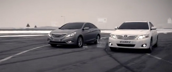 4cyl Drag Race Video – 2010 Toyota Camry vs. 2011 Hyundai Sonata
