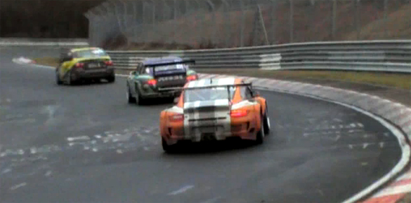 Nurburgring Nordschleife Testing Video – The Heavy Hitters get a little wet