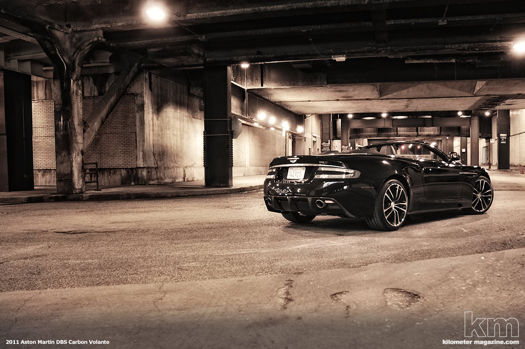 Kilometer Magazine Drives the 2010 Aston Martin DBS Volante Carbon Black