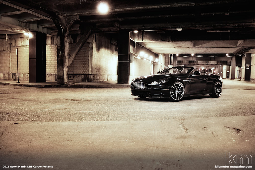 to test drive the new 2010 Aston Martin DBS Volante Carbon Black Edition