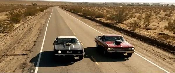 El Camino Chases Camaro in Gorillaz Stylo Video