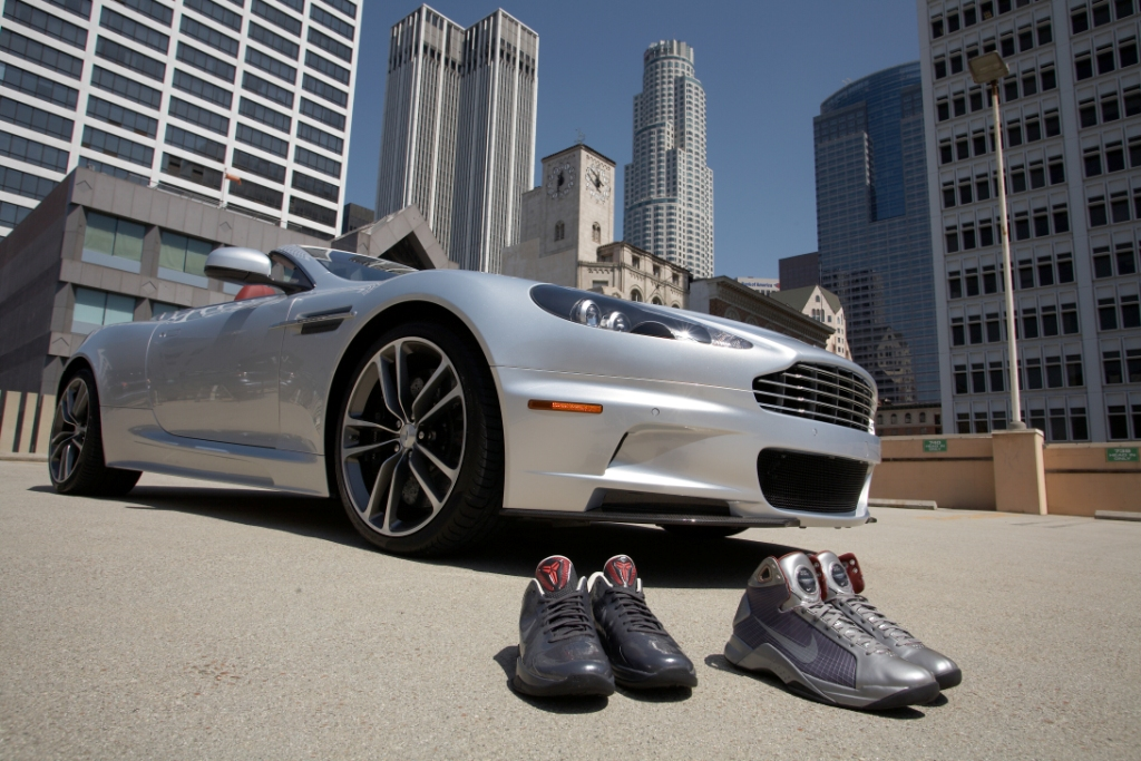 Aston Martin Partners with Nike Basketball to Introduce the Nike Kobe Bryant Aston Martin Edition Footwear Pack