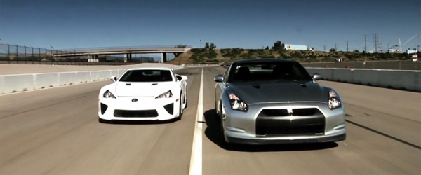 Motor Trend Drag Race Video: Lexus LFA vs. Nissan GT-R