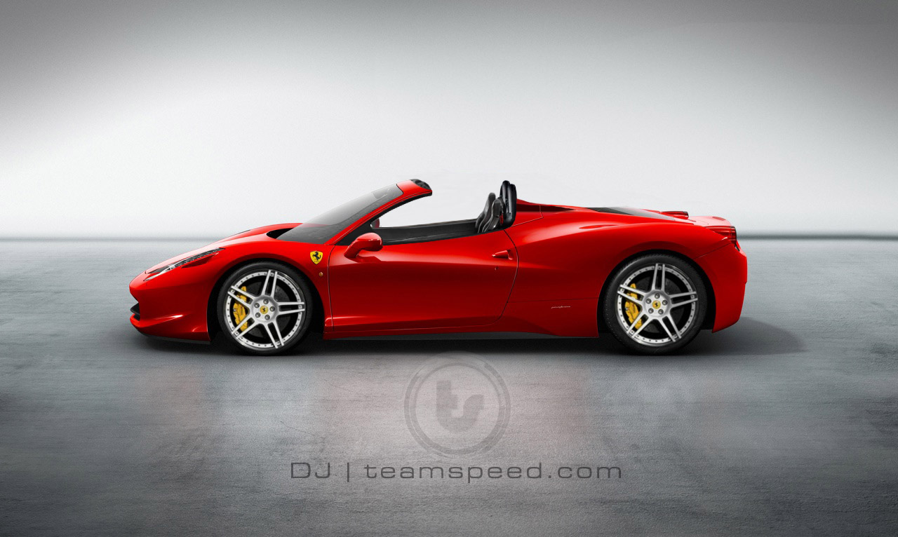 ferrari 458 italia spider retractable hard top rendering. Black Bedroom Furniture Sets. Home Design Ideas