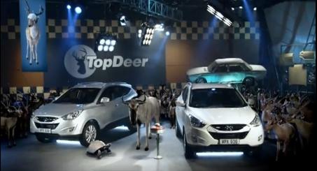 Top Gear Spoof: 'Top Deer' Hyundai ix35/Tucson Commercial Video