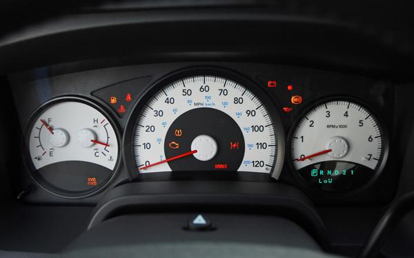 dodge dakota dashboard warning lights