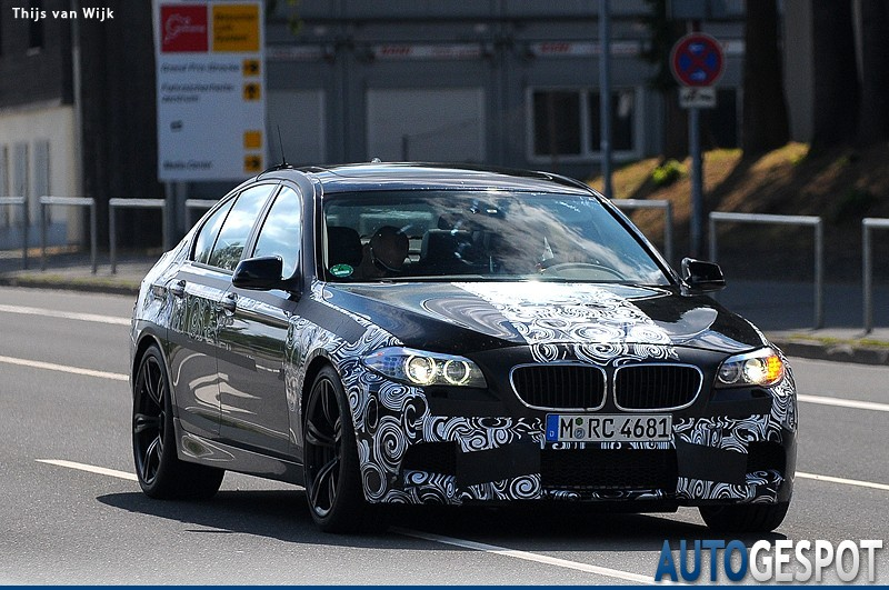 2012 BMW M5 Spy Shots Show More Skin
