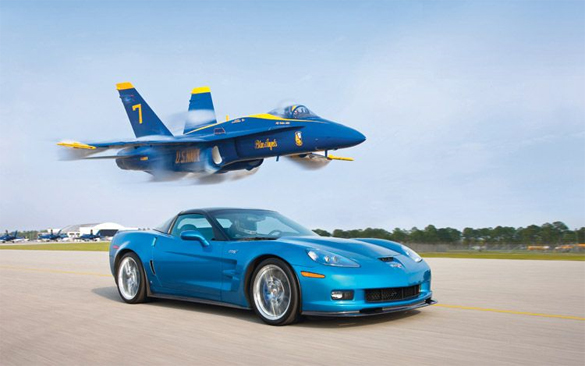 Blue Devil vs Blue Angel Drag Race Video: Corvette ZR1 vs. F/A-18 Hornet