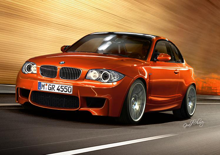 teasing everyone with a small sliver of the new BMW 1-Series M Coupe.