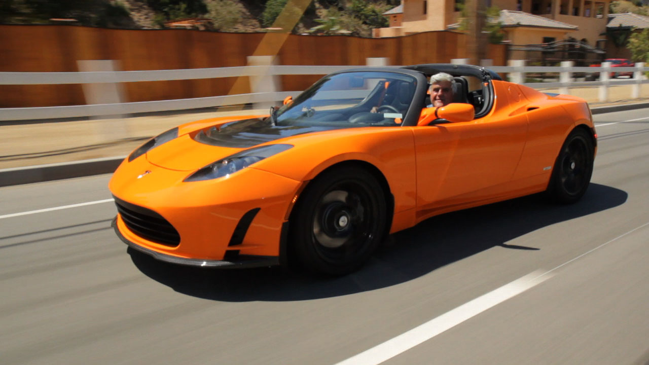 Video: Jay Leno Drives 2010 Tesla Roadster 2.5