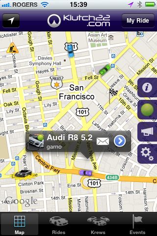Connect your ride to the world with the Klutch22 iPhone App