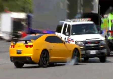Video: Bumblebee Camaro Gets Into Real Accident On Set of Transformers 3