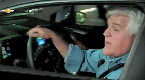 Jay Leno Takes Delivery Of His New Chevy Volt