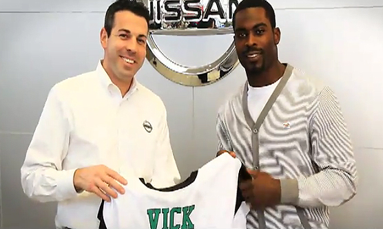 Michael Vick Makes Appearance in 'The Showroom' Nissan Dealership Commercial