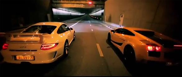 Street Racing Video: Lamborghini Gallardo Superleggera vs. Porsche 911 GT3