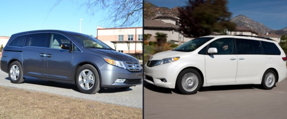 100 hot cars toyota sienna for Compare honda odyssey and toyota sienna