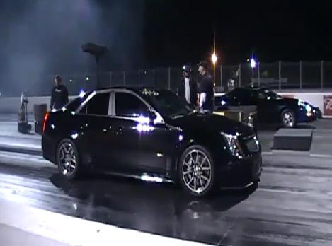 Video: 9 Second Cadillac CTS-V Drag Run