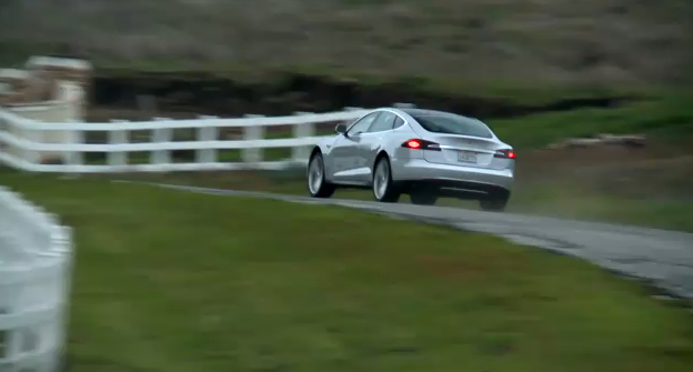 Tesla's Model S Alpha Road Test Video
