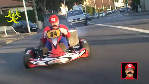 Video: Real-Life Mario Kart Rémi Gaillard is Back