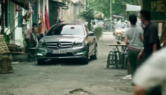 Video: C-Class Coupe Featured in Action-Packed Mercedes-Benz Drive & Seek Movie