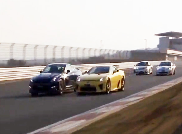 Best Motoring's Last Hurrah: LFA vs. GT-R, 911 GT2 RS, ZR1, F430 GT3