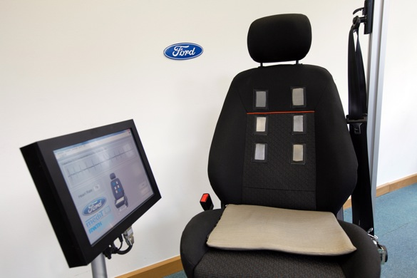 A seat that monitors you heart rate? Ford's working on it. Image: Ford Motor Company