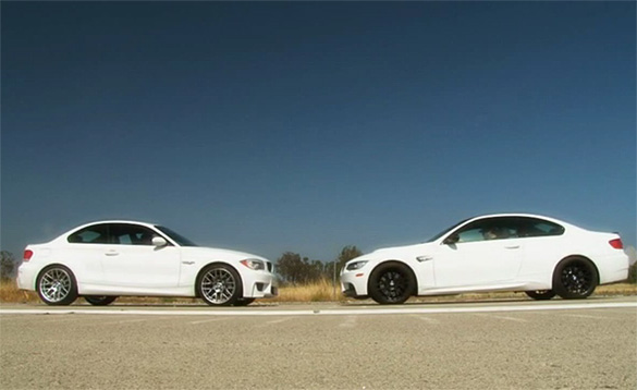 Video: Motor Trend Tests New BMW 1 M Coupe against BMW M3